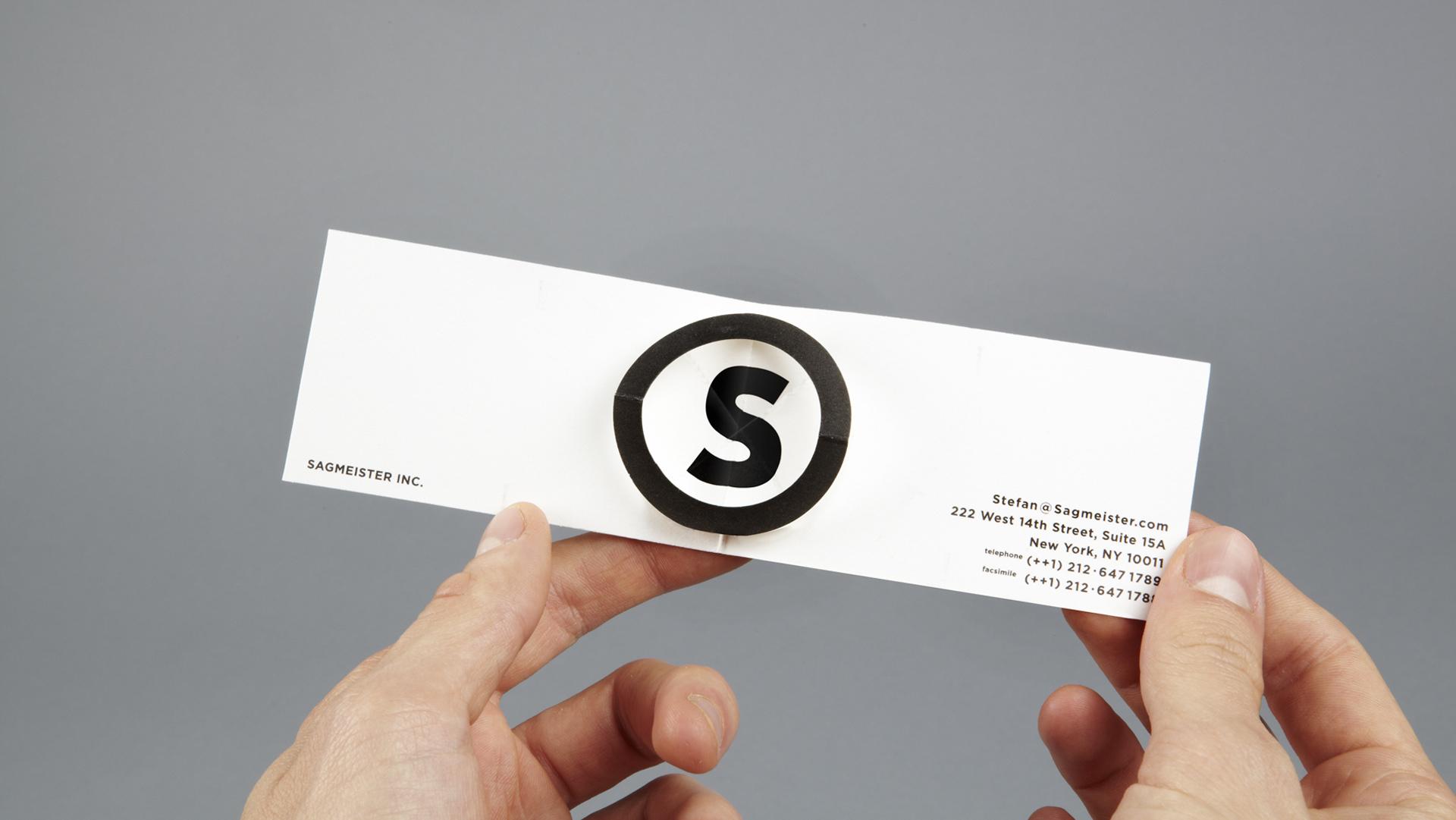 Sagmeister Inc. Business Card Two – Sagmeister & Walsh