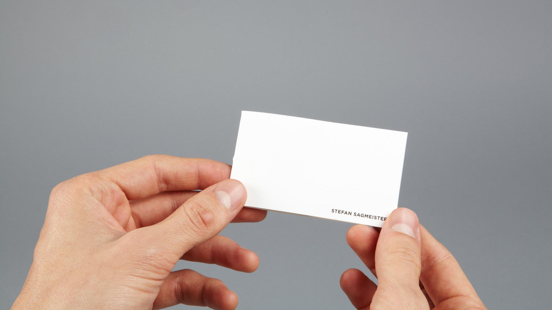 sagmeister inc business card two – sagmeister walsh
